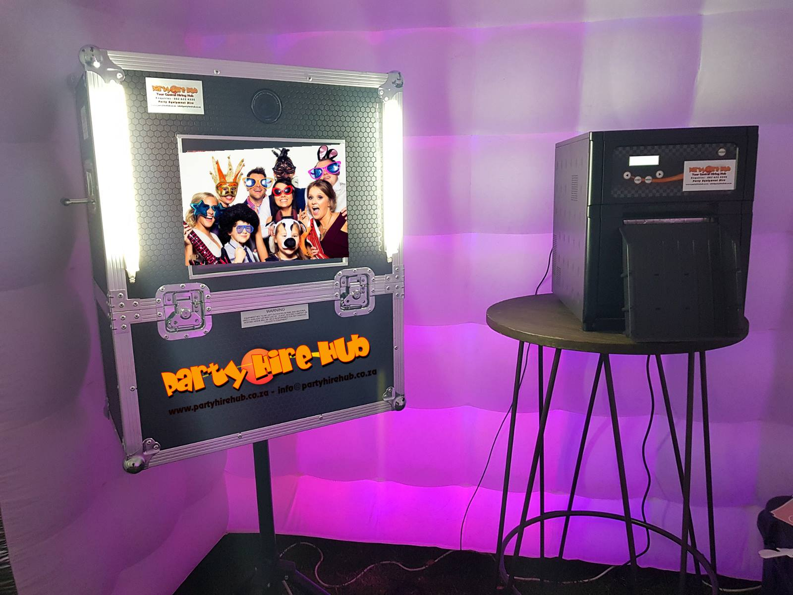 Party Hire Hub Inflatable Photo Booth Inside